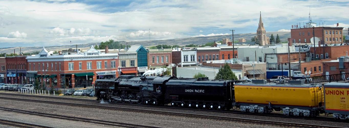 844 Steam Train, Laramie, Wyoming